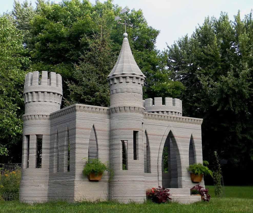impression 3D bâtiment construction maison