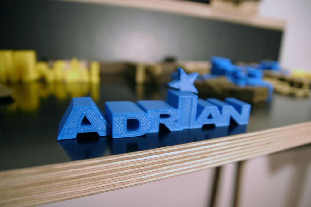 impression 3D prénom 3D