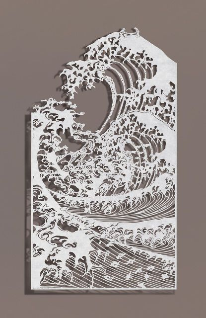 impression 3D art wave