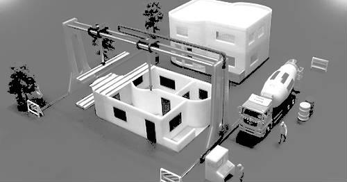 impression 3D bâtiment construction