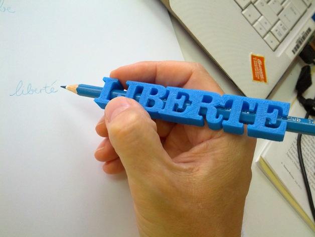 impression 3D personnalisation crayon stylo