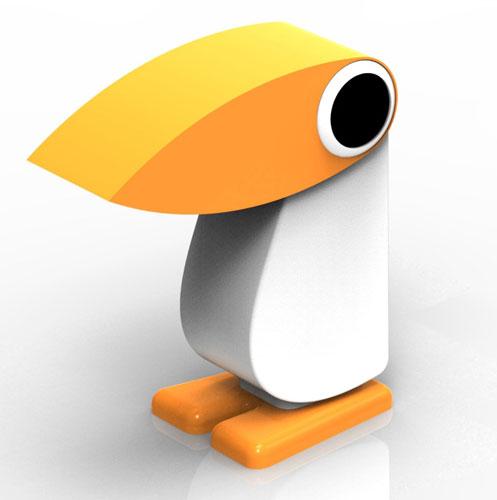 lampe pingouin cassetta impression 3D